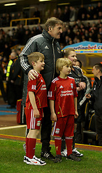 WOLVERHAMPTON, ENGLAND - Tuesday, January 31, 2012: Liverpool's manager Kenny Dalglish during the Premiership match against Wolverhampton Wanderers at Molineux. (Pic by David Rawcliffe/Propaganda)