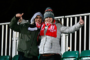 Middlesbrough fans before the The FA Cup match between Newport County and Middlesbrough at Rodney Parade, Newport, Wales on 5 February 2019.