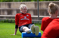 LARNACA, CYPRUS - Thursday, March 1, 2018: Wales' Rhiannon Roberts during a training session in Larnaca on day three of the Cyprus Cup tournament. (Pic by David Rawcliffe/Propaganda)