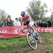 Belgium, November 1 2017:  Mathieu van der Poel (Beobank-Corendon) during the 2017 edition of the Koppenbergcross. Copyright 2017 Peter Horrell.