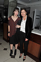 Left to right, MADELAINE EVANS Topshop's head of buying and TopShop's creative director KATE PHELAN at a party hosted by TopShop to celebrate 10 years of NEWGEN and 10 years of supporting Brtish Fashion held at Le Baron, 29 Old Burlington Street, London W1 on 21st February 2012.