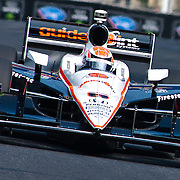 Ryan Briscoe #6 coming out of turn number 8 at the inaugural Baltimore Grand Prix Sunday Sept. 4, 2011 in Baltimore Maryland.