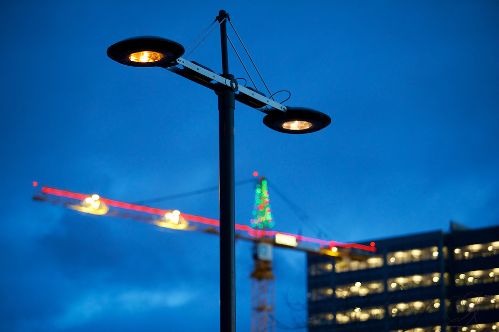 The basics of solid design are scaleable - from a stylish street lamp to a massive construction crane!