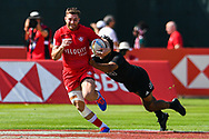 Isaac Kaay of Canada in action<br /> <br /> Photographer Craig Thomas/Replay Images<br /> <br /> World Rugby HSBC World Sevens Series - Day 2 - Friday 6rd December 2019 - Sevens Stadium - Dubai<br /> <br /> World Copyright © Replay Images . All rights reserved. info@replayimages.co.uk - http://replayimages.co.uk