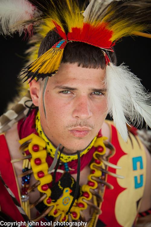 Quentin Talbott, Monacan.  Portraits at the Monacan Powwow.  Elon, VA.  Saturday, May 16, 2015.  John Boal Photography