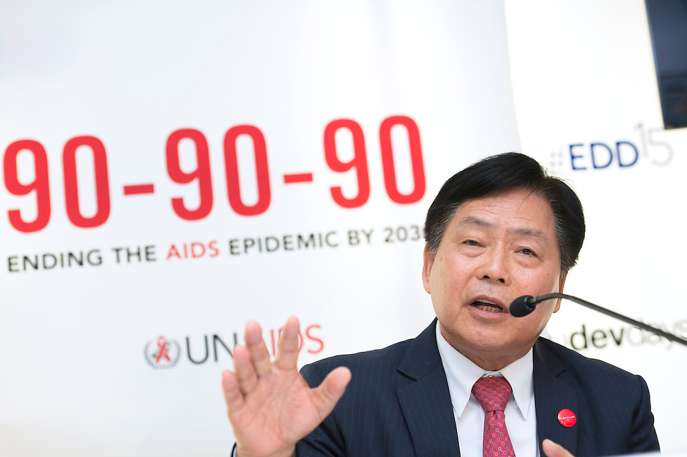 03 June 2015 - Belgium - Brussels - European Development Days - EDD - Health - 90-90-90 - An ambitious treatment target to help end the AIDS epidemic - Bounkong Syhavong<br /> Vice-Minister of Health, Lao People's Democratic Republic &copy; European Union