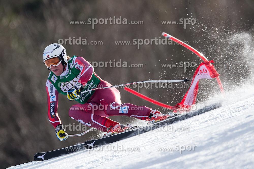 27.02.2016, Hannes Trinkl Rennstrecke, Hinterstoder, AUT, FIS Weltcup Ski Alpin, Hinterstoder, Super G, Herren, im Bild Aleksander Aamodt Kilde (NOR, 1. Platz) // winner Aleksander Aamodt Kilde of Norway competes during his run of men's Super G of Hinterstoder FIS Ski Alpine World Cup at the Hannes Trinkl Rennstrecke in Hinterstoder, Austria on 2016/02/27. EXPA Pictures © 2016, PhotoCredit: EXPA/ Johann Groder