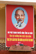 Propaganda with Ho Chi Minh at the New Lai Chau, built to accomodate the people of Lai Chau who will be moved when Lai Chau is submerged by a new dam along Song Da (Black River).