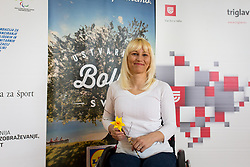 Mateja Pintar, Press conference of Paralympic committe of Slovenia, on April 6, 2017 in Zavod Cirius, Kamnik, Slovenia.  Photo by Ziga Zupan / Sportida