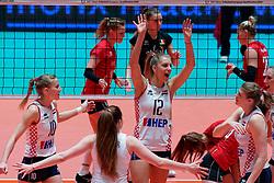 09–01-2020 NED: Olympic qualification tournament women, Apeldoorn<br /> Croatia - Belgium / Beta Dumancic #12 of Croatia, Matea Ikic #10 of Croatia