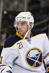 January 6, 2011; San Jose, CA, USA; Buffalo Sabres right wing Drew Stafford (21) warms up before the game against the San Jose Sharks at HP Pavilion. Buffalo defeated San Jose 3-0. Mandatory Credit: Jason O. Watson / US PRESSWIRE