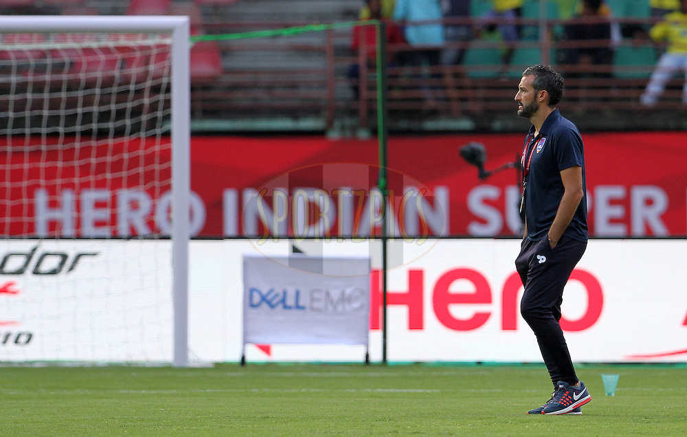 Delhi Dynamos FC coach Gianluca Zambrotta arrive on the ground before the start of the match 9 of the Indian Super League (ISL) season 3 between Kerala Blasters FC and Delhi Dynamos FC held at the Jawaharlal Nehru Stadium in Kochi, India on the 9th October 2016.<br /> <br /> Photo by Vipin Pawar / ISL/ SPORTZPICS