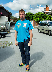 Klemen Bergant at departure of Slovenian Men Ski Team to training camp in Argentina and Chile on August 21, 2014 in SZS, Ljubljana, Slovenia. Photo by Vid Ponikvar / Sportida.com
