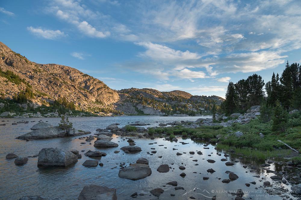 Little Bonneville Lake. Bridger Wilderness, Wind River Range Wyoming