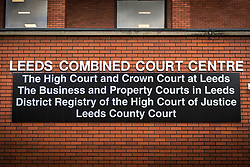 "© Licensed to London News Pictures. 14/11/2018. Leeds UK. Leeds Crown Court where notorious prisoner Charles Bronson is appearing today . Bronson age 65 ""Britain's most violent prisoner"" is on trial at Leeds Crown Court charged with attempting to cause grievous bodily harm with intent to HMP Wakefield Governor Mark Docherty on January the 25th. Bronson is defending himself in court & is standing trial under the name Charles Salvador.  Photo credit: Andrew McCaren/LNP"