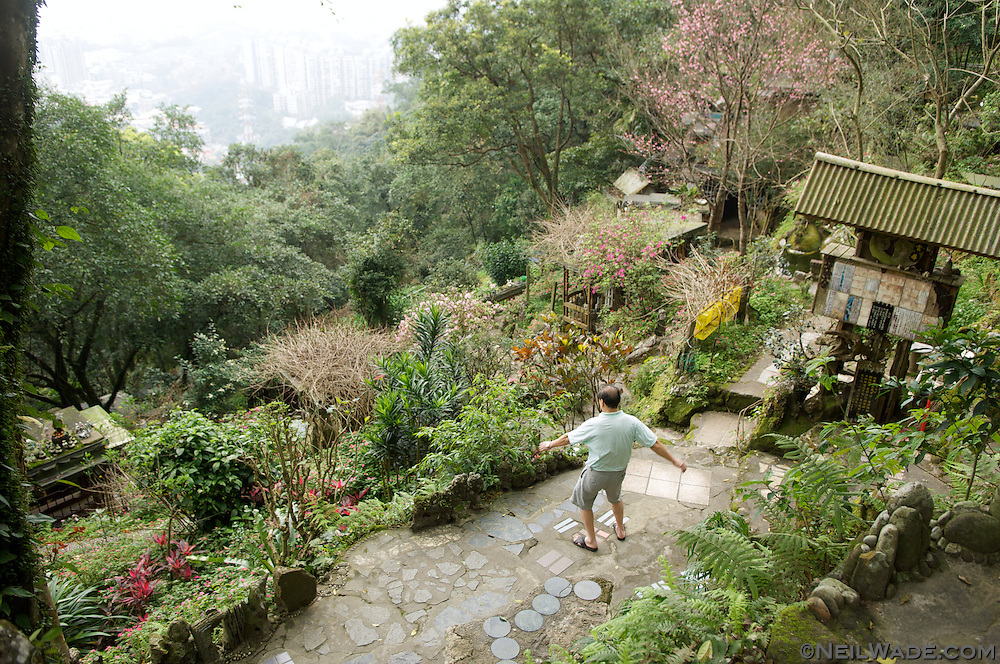 A strange, hand made artist village can be found on the Four Beasts Mountains in Taipei, Taiwan.