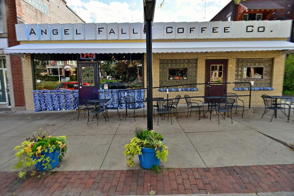 Street view of Angel Falls Coffee Company.