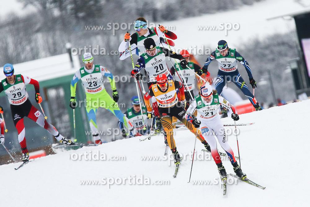 30.01.2015, Langlaufzentrum, Lago di Tesero, ITA, FIS Weltcup Nordische Kombination, Val di Fiemme, Langlauf, im Bild Mikko Kokslien (NOR) Eric Frenzel (GER) Ilkka Herola (FIN) Lukas Klapfer (AUT) Gasper Berlot (SLO) Bryan  Fletcher (USA)  //  during Cross Country of the FIS Nordic Combined World Cup Val di Fiemme at the Langlaufzentrum in Lago di Tesero, Italy on 2015/01/30. EXPA Pictures © 2015, PhotoCredit: EXPA/ Alice Russolo