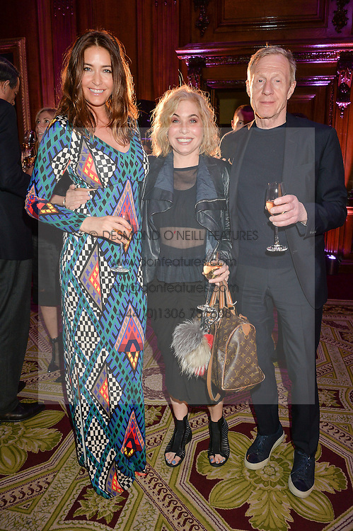 "Left to right, LISA SNOWDON, BRIX SMITH START and PHILIP START at the presentation of Le Prix Champagne De La Joie de Vivre to Stephen Webster in celebration of his long standing contribution to ""Joie de Vivre' held at the Council Room, One Great George Street, London on 22nd April 2015."