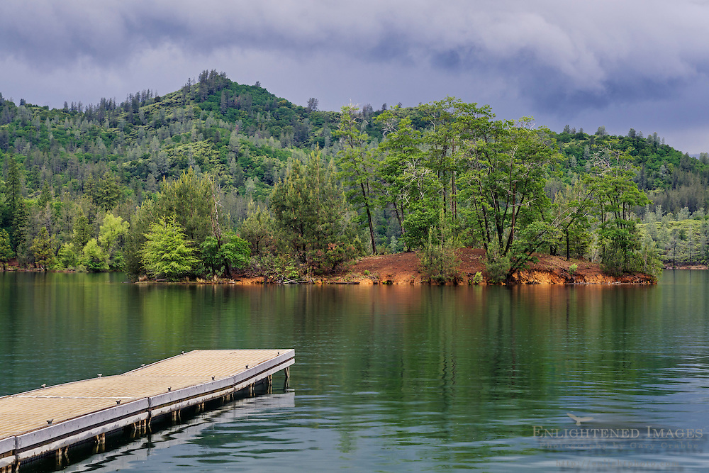 Dock at Whiskeytown Lake, Whiskeytown National Recreation Area, Shasta - Trinity National Forest, Shasta County, California