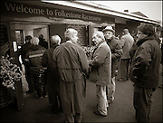 The last meeting at Folkestone Racecourse, Westenhanger, Kent, 18th December 2012..People arrive at the racecourse.