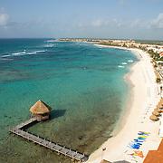 Aerial view of Akumal. Riviera Maya, Quintana Roo, Mexico.