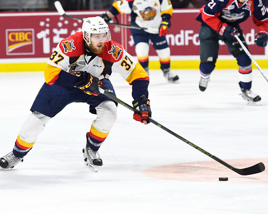 Action from the championship game at the 2017 MasterCard Memorial Cup between the Erie Otters and Windsor Spitfires at WFCU Centre in Windsor, ON on Sunday May 28, 2017. Photo by Aaron Bell/CHL Images