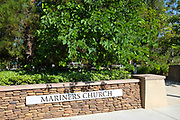 Mariners Church Stone Wall Walkway Signage