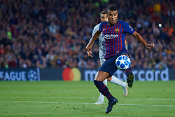 October 24, 2018 - Barcelona, Barcelona, Spain - Rafinha of FC Barcelona in action during the UEFA Champions League group B match between FC Barcelona and FC Internazionale  at Camp Nou on October 24, 2018 in Barcelona, Spain  (Credit Image: © Sergio Lopez/NurPhoto via ZUMA Press)