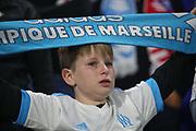 Marseille fan cries during the Europa League Final match between Olympique de Marseille and Atletico Madrid at Orange Velodrome, Marseille, France on 16 May 2018. Picture by Ahmad Morra.