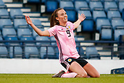 GOAL! Scotlands Caroline WEIR (Manchester City WFC (ENG)) celebrates her goal during the International Friendly match between Scotland Women and Jamaica Women at Hampden Park, Glasgow, United Kingdom on 28 May 2019.