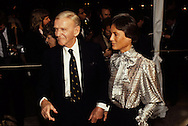 Fred Astaire and wife Robyn arrive at the 20th Century Fox party during Queen Elizabeth II visit to California in March 1983...Photograph by Dennis Brack b23