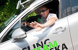 Marko Polanc of Radenska during Stage 3 from Skofja Loka to Vrsic (170 km) of cycling race 20th Tour de Slovenie 2013,  on June 15, 2013 in Slovenia. (Photo By Vid Ponikvar / Sportida)
