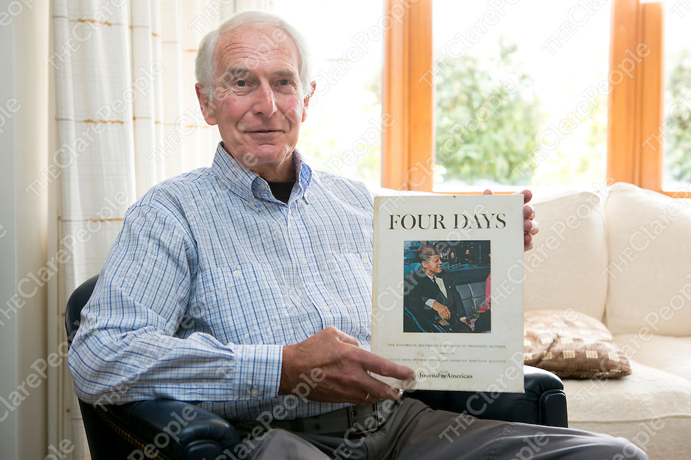 Fergus Marshall pictured with the JFK Book Four Day at Home in Ennis Co.Clare<br /> Pictured Credit Brian Gavin Press 22