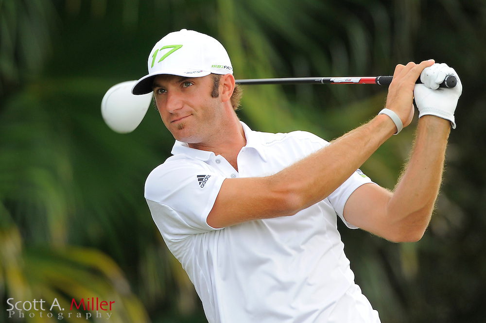 Dustin Johnson during the first round of the World Golf Championship Cadillac Championship on the TPC Blue Monster Course at Doral Golf Resort And Spa on March 8, 2012 in Doral, Fla. ..©2012 Scott A. Miller.