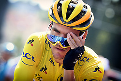 July 14, 2018 - Amiens Metropole, FRANCE - Belgian Greg Van Avermaet of BMC Racing pictured before the start of the eighth stage of the 105th edition of the Tour de France cycling race, from Dreux to Amiens Metropole (181 km), in France, Saturday 14 July 2018. This year's Tour de France takes place from July 7th to July 29th. BELGA PHOTO YORICK JANSENS (Credit Image: © Yorick Jansens/Belga via ZUMA Press)