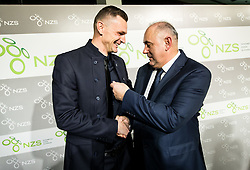 Milivoje Novakovic and Radenko Mijatovic, president of NZS during Traditional New Year party of of the Slovenian Football Association - NZS, on December 18, 2017 in Kongresni center, Brdo pri Kranju, Slovenia. Photo by Vid Ponikvar / Sportida