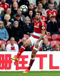 Christian Stuani of Middlesbrough controls the ball - Mandatory by-line: Robbie Stephenson/JMP - 16/10/2016 - FOOTBALL - Riverside Stadium - Middlesbrough, England - Middlesbrough v Watford - Premier League