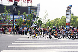 Doris Schweizer leads the bunch - Tour of Chongming Island 2016 - Stage 1. A 139.8km road race on Chongming Island, China on May 6th 2016.