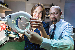 Scottish Labour Leader, Kezia Dugdale, visits IT repair and retail store SimplyFixIt in Edinburgh, which has recently been accredited as a living wage employer.<br /> <br /> Pictured: Kezia Dugdale with Awais Javed (Technical Manager)