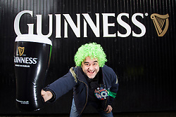 Repro Free: Saturday, 16th March 2013: Shaun Gillam from London pictured celebrating his 40th Birthday and enjoying the St. Patrick's Festival at the Guinness.Storehouse. Visitors to the Storehouse enjoyed a host of entertainment over the weekend including a silent disco, gig by Munster band Hermitage Green,.lively set by Electric Ceili, and complimentary Guinness and food tastings. Picture Andres Poveda