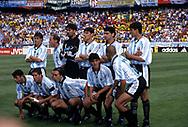 FIFA World Cup - France 1998<br /> 21.6.1998, Parque des Princes, Paris, France.<br /> Group H, Argentina v Jamaica.<br /> Argentina pose quickly before the match.