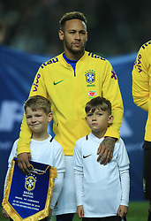 Brazil's Neymar before the international friendly match at Stadium MK, Milton Keynes.