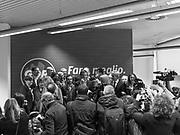 Giorgio Gori, candidato alle elezioni regionali della Lombardia per la coalizione di centro-sinistra, parla durante la presentazione della lista 'Gori Presidente'. Milano, 7 febbraio 2018. Guido Montani / OneShot<br /> <br /> Giorgio Gori, center-left candidate to the presidency of Lombardy, speaks during the presentation of the list 'Gori Presidente'. Milan, 7 february 2018. Guido Montani / OneShot