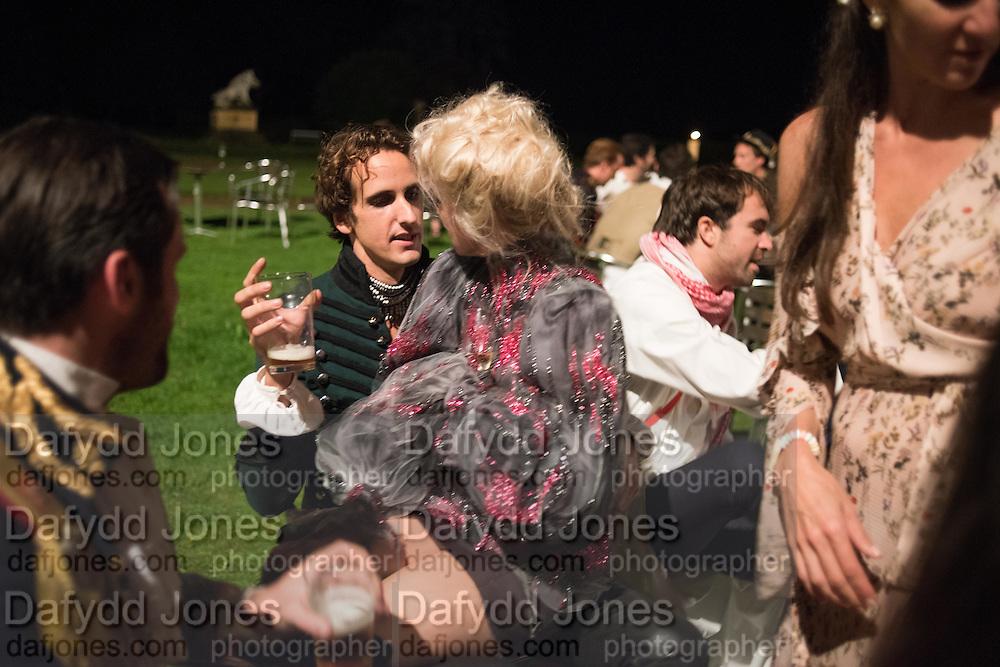 OSCAR BELLVILLE; BELLA HOWARD; Bella Howard 30th birthday, Castle Howard, Dress code: Flower Fairies and Prince Charming, 3 September 2016