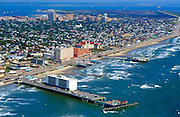Aerial Photograph of Galvestown Beach, Texas