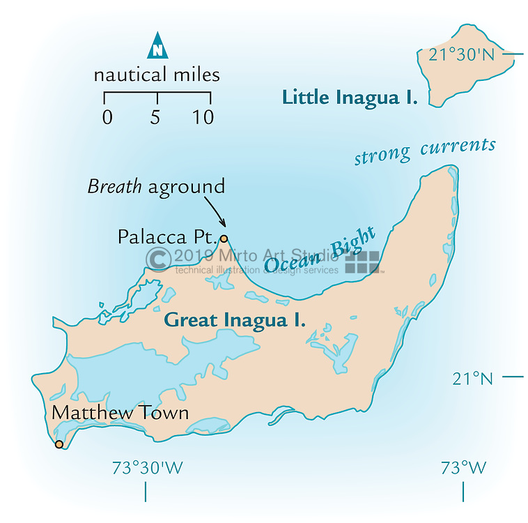 Vector map of Great Inagua, Bahamas