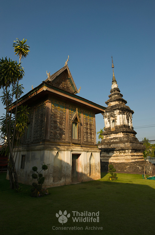 Haw Trai or Ho Trai of Wat Hua Khuang in Nan, Thailand. This Tripitaka library is where Buddhist scriptures are kept.