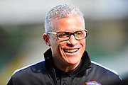 Carlisle Utd manager Keith Curle before the Sky Bet League 2 match between Yeovil Town and Carlisle United at Huish Park, Yeovil, England on 25 March 2016. Photo by Graham Hunt.