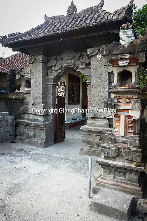 Entrance to a temple in Bali, Indonesia